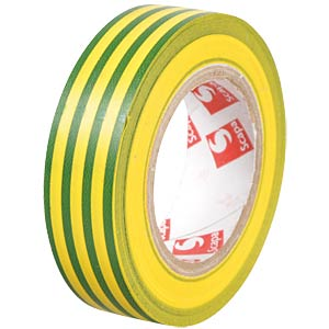 VDE insulating tape, 25 m, width: 25 mm, green/yellow FREI