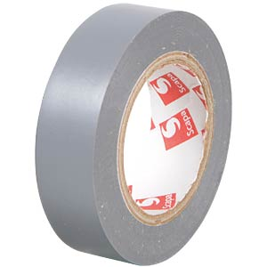 VDE insulating tape, 10 m, width: 15 mm, grey FREI