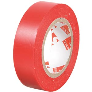 VDE insulating tape, 10 m, width: 15 mm, red FREI