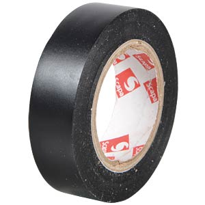 VDE insulating tape, 10 m, width: 15 mm, black FREI