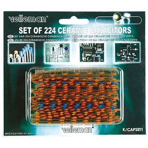 Set: ceramic capacitors, 224 pieces VELLEMAN K/CAP1