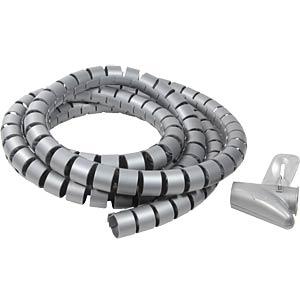Spiraalslang + gereedschap, 2500x25mm, grijs LOGILINK KAB0013
