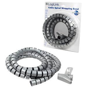 Spiralschlauch + Werkzeug, 2500x25mm, grau LOGILINK KAB0013