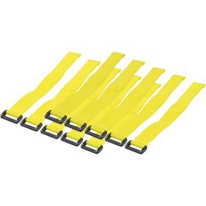 Klettband mit Schlinge, 300 x 20 mm, gelb, 10er-Pack LOGILINK KAB0015