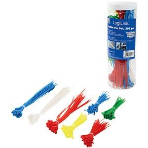 Kabelbinder-Set, verschiedene Größen, mehrfarbig, 300er-Pack LOGILINK KAB0017