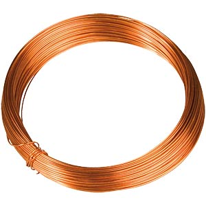 Enamelled copper wire, diameter 1.18 mm, length: 6 m BLOCK TRANSFORMATOREN CUL 0,118/6