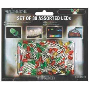 Set: LED, 80-teilig VELLEMAN K/LED1