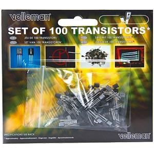 Set: transistors, 100 pieces VELLEMAN K/TRANS1