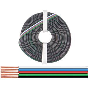 Kupferlitze isoliert, 10 m, 4 x 0,25 mm², sw/gn/rt/bl DONAU 419-010