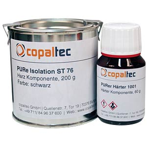 2-component polyurethane resin, black, isolating COPALTEC PURE ISOLATION ST 76, SCHWARZ