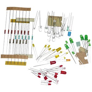 Set: LEDs and resistors, 70 pieces KEMO S093