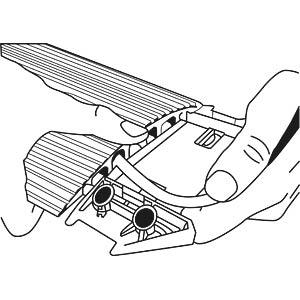Kabelkanal, 150cm, 5 Kanäle, dunkelgrau SERPA