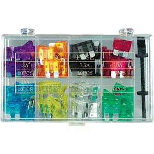 Assortment box with 100 automotive fuses, FKS1 FREI