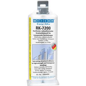 Structuurlijm, Easy-Mix RK-7200 acrylaat, transparant, 50 g WEICON 10564050
