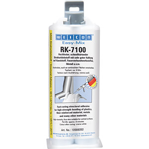 Strukturkleber, Easy-Mix RK-7100 Acrylat, cremeweiß, 50 g WEICON 10566050