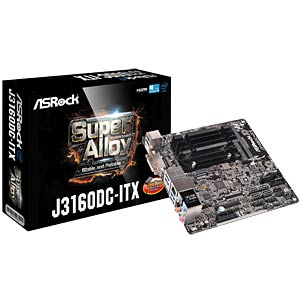 Mini-ITX Motherboard with Intel Celeron J3160 ASROCK 90-MXB1K0-A0UAYZ
