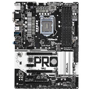 ASRock Z270 Pro4 (1151) ASROCK 90-MXB3Q0-A0UAYZ