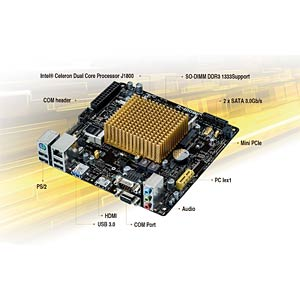 Mini-ITX motherboard with Intel Celeron J1800 ASUS 90MB0J60-M0EAY0