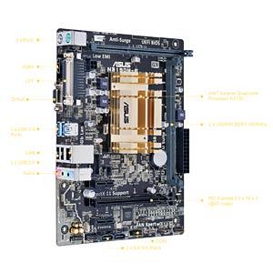 Mikro-ATX Motherboard mit Intel Celeron N3150 ASUS 90MB0M20-M0EAY0