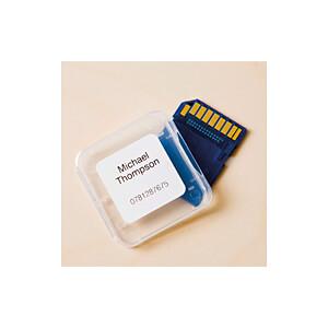 Qudratische Etiketten, 23 x 23 mm, (1.000 St/Rolle), Papier BROTHER DK-11221
