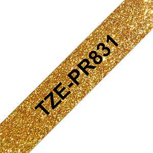laminiertes Schriftband, schwarz auf premium-gold, 12 mm BROTHER TZEPR831