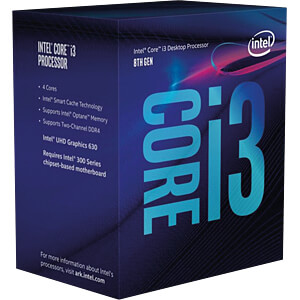 Intel Core i3-8100, 4x 3.60GHz, boxed, 1151 INTEL BX80684I38100