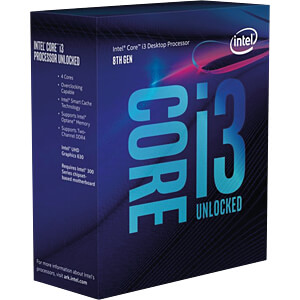 Intel Core i3-8350K, 4x 4.00GHz, boxed, 1151 INTEL BX80684I38350K