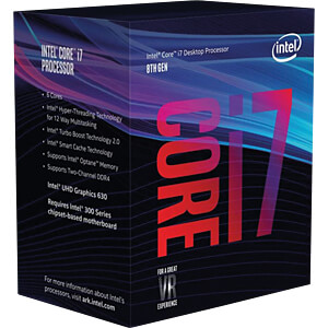 Intel Core i7-8700, 6x 3,20GHz, en boîte, 1151 INTEL BX80684I78700