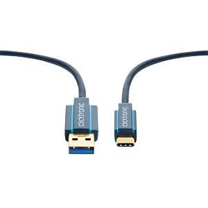 USB 3.0 Kabel, C Stecker auf A Stecker, Casual, 2 m CLICKTRONIC 45125