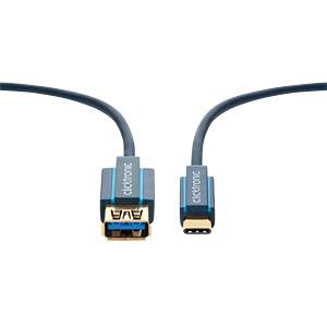 USB 3.0 Kabel, C Stecker auf A Buchse, Casual, 2 m CLICKTRONIC 45129
