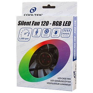 Cooltek Silent Fan RGB Gehäuselüfter, 120 mm COOLTEK CT120RGB