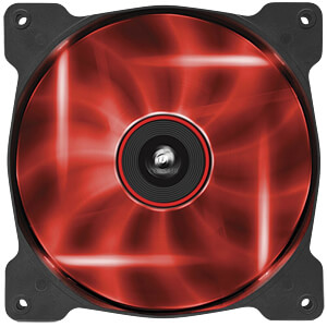 Corsair AF140 Gehäuselüfter, 140 mm, LED rot CORSAIR CO-9050017-RLED