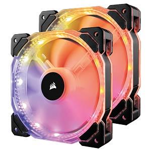 Corsair HD140 Gehäuselüfter, 140 mm, RGB, x2 CORSAIR CO-9050069-WW