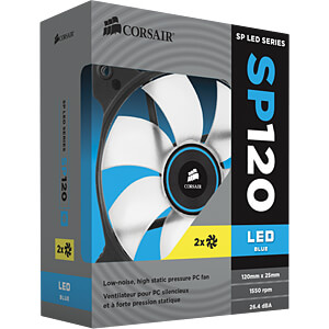 Corsair SP120 Gehäuselüfter, 120 mm, LED blau, x2 CORSAIR CO-9050031-WW