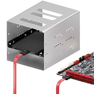 SATA III 6Gb/s Kabel - 0,30m rot DELEYCON MK-MK1241