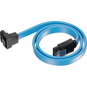 SATA III 6Gb/s Kabel - 0,30m gewinkelt blau DELEYCON MK-MK1244