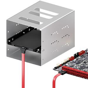 SATA III 6Gb/s Kabel - 0,50m gewinkelt rot DELEYCON MK-MK1237