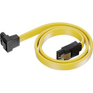 SATA III 6Gb/s Kabel - 0,30m gewinkelt gelb DELEYCON MK-MK1246