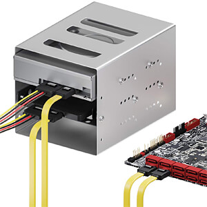 SATA III 6Gb/s Kabel-Set - 2x 0,50m gelb + 4pin auf 2x SATA DELEYCON MK-MK9062