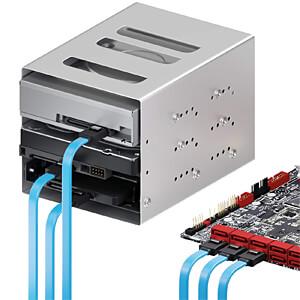 SATA III 6Gb/s Kabel-Set - 3x 0,50m blau DELEYCON MK-MK9065