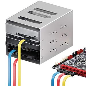 SATA III 6Gb/s Kabel-Set - 3x 0,50m rot/gelb/blau DELEYCON MK-MK9066