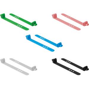 DELOCK 18828 - Silikon-Kabelordner 10 Stück farbig sortiert
