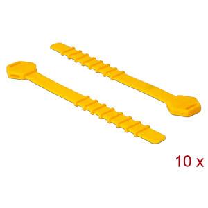 DELOCK 18830 - Silikon-Kabelordner 10 Stück gelb