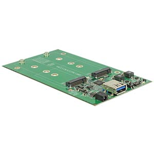 externes Dual M.2 SSD Gehäuse, USB 3.1 DELOCK 42568