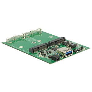 externes Dual mSATA SSD Gehäuse, USB 3.1 DELOCK 42571