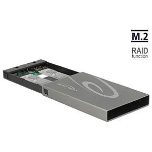 externes Gehäuse 2x M.2 Key B > USB 3.1 Typ C, mit RAID DELOCK 42589