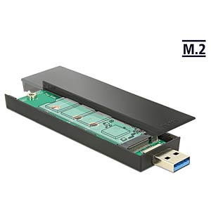 M.2 Key B 80 mm SSD > USB 3.1 DELOCK 42593