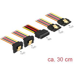 SATA 15 Pin Stecker > SATA 15 Pin Buchse 2 x gerade, 2 x unten 3 DELOCK 60151