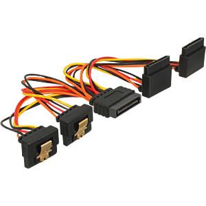 SATA 15 Pin Stecker > SATA 15 Pin Buchse 2 gerade, 2 unten 90° 1 DELOCK 60153