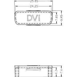 Staubschutz für DVI Buchse, 10 Stück transparent DELOCK 60161